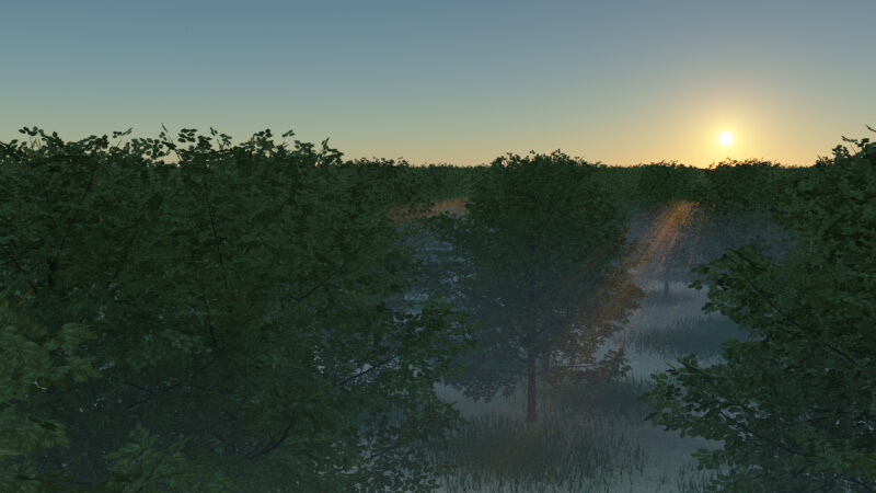 Terragen 3 森: Terragen、Blend...